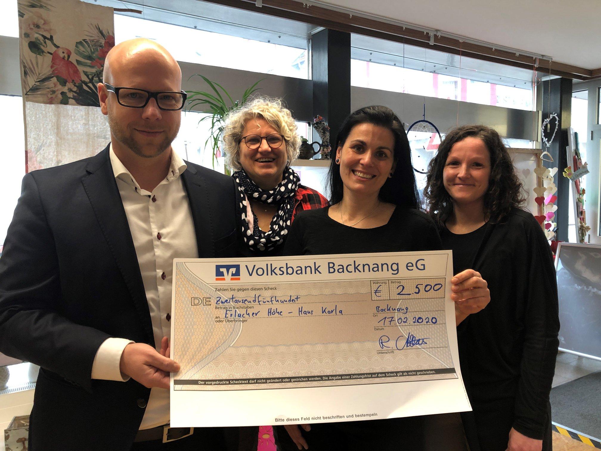 Bau Geno Backnang: 2500 Euro für das Haus Karla